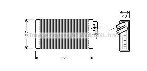 AI6052 Радиатор отопителя AUDI A100 1.8-2.8 77-99