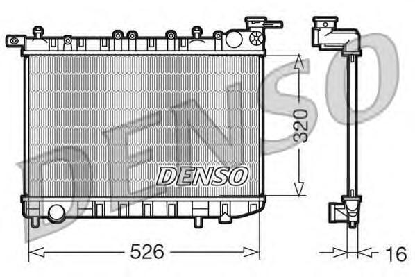 DRM46015 Радиатор охл. ДВС NI Almera I -07.00