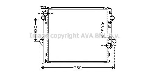 TOA2478 Радиатор TOYOTA LAND CRUISER 120 3.0TD 02-10