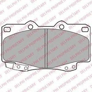 LP2242 Колодки тормозные TOYOTA HILUX III 05- передние