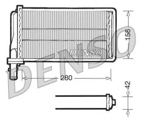 DRR01001 Радиатор отопителя ALFA ROMEO 166 2.0-3.2 98-07