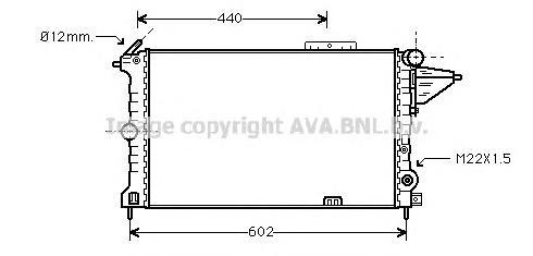 OLA2119 Радиатор системы охлаждения OPEL: VECTRA A (86_, 87_) 1.7 D/1.8 S/1.8 S 4x4/1.8 i KAT/2.0/2.0 i/2.0 i 16V/2.0 i 16V 4x4/