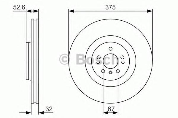 0986479R31 Диск тормозной MB X164/W251 06- передний вент.