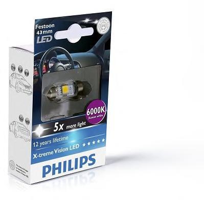 129466000KX1 Лампа Fest T10.5 12V 1W LED 6000K SV8,5-41/11
