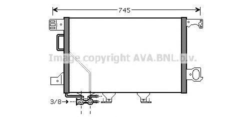 MSA5435 Конденсер MB W203/C209 1.6-6.3/2.0D-3.0D 00-11