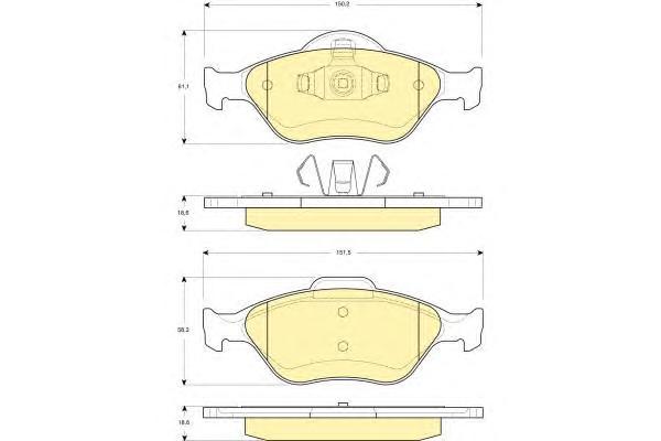 6114192 Колодки тормозные FORD FIESTA 9501/01/FUSION 01 передние