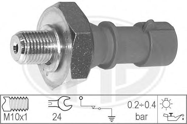 330537 Датчик давления масла OPEL: ASTRA H 1.6 04-, ASTRA H GTC 1.6 05-, ASTRA H TwinTop 1.6 05-, ASTRA H универсал 1.6 04-