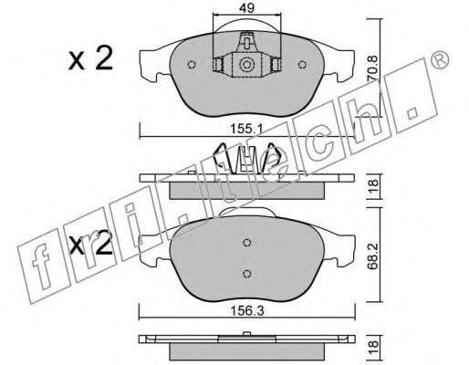 3452 Комплект тормозных колодок, дисковый тормоз