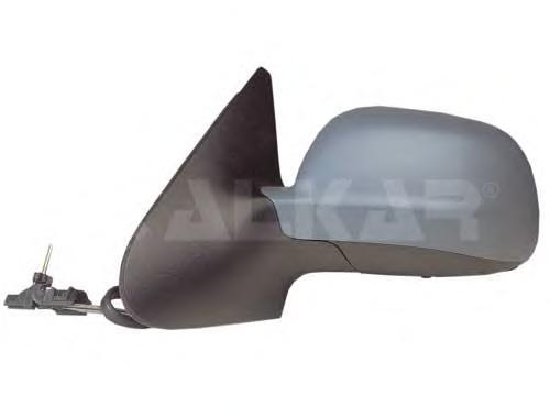 6165109 Зеркало в сборе механическое правое, грунтованное / VW Polo 00~02