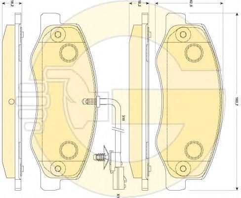 6118859 Колодки тормозные OPEL MOVANO/RENAULT MASTER 10- задние (сдвоен.шины)