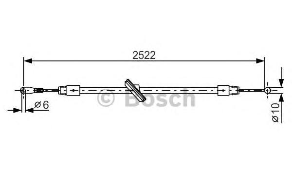 1987482029 Трос ручного тормоза MB SPRINTER/VW CRAFTER 2522мм