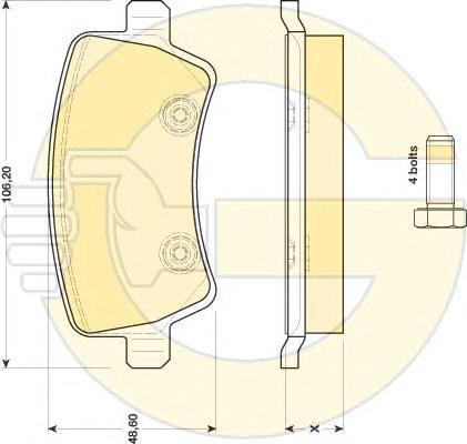 6116851 Колодки тормозные FORD GALAXY/S-MAX/VOLVO S80/V70/XC60/XC70 07- задние