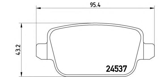 P44016 Колодки тормозные FORD GALAXY/MONDEO/S-MAX/VOLVO S80/XC70/FREELANDER 06- задние
