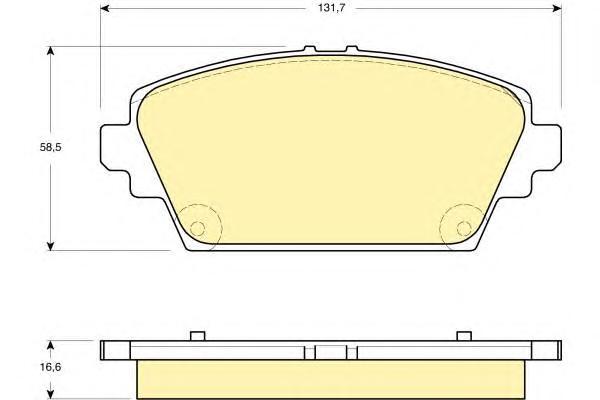 6132919 Колодки тормозные NISSAN PRIMERA (P12) 02/ALMERA TINO 0005 передние