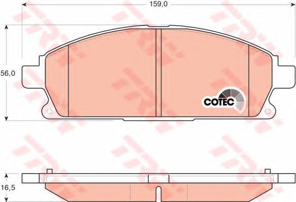 GDB3293 Колодки тормозные NISSAN PATHFINDER 97-04/X-TRAIL 01-07 передние