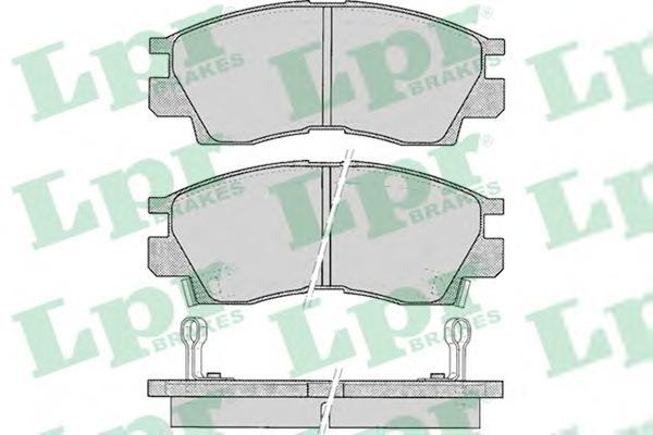 05p042 Комплект тормозных колодок, дисковый тормоз