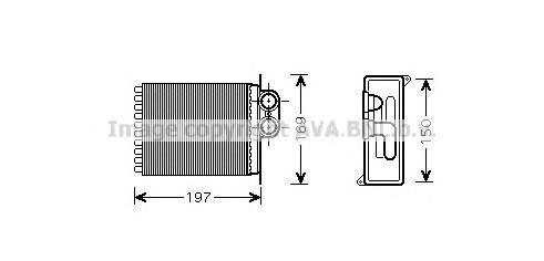 MSA6400 Радиатор отопителя MB: SPRINTER 3,5 C БОРТОВОЙ ПЛАТФОРМОЙ/ХОДОВАЯ ЧАСТЬ (906) 309 CDI/310 CDI/311 CDI/311 CDI 4X4 (906.1