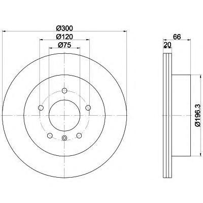 8DD355118271 Диск тормозной BMW 3 F30 задний вент.D=300мм.
