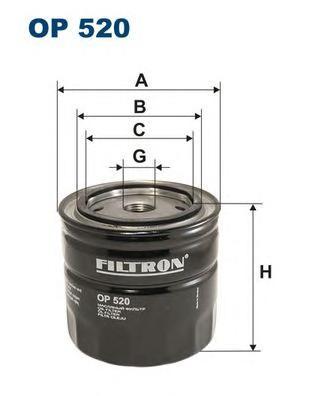 OP520 Фильтр масляный LADA 01-07/NIVA 1200-1700/FIAT 124 1.4-1.8 75