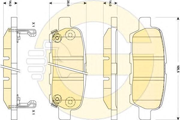 6135069 Колодки тормозные LEXSUS LS 460 06- передние