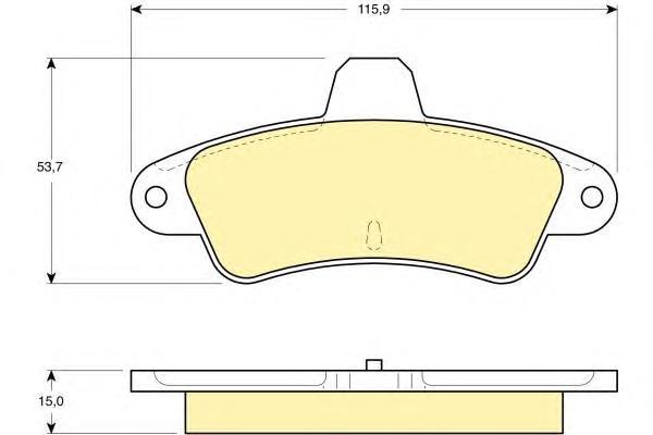 6140843 Колодки тормозные FORD MONDEO 1.6-2.0 93-00 задние