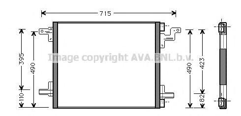 MS5270 Радиатор кондиционера MERCEDES-BENZ: M-CLASS (W163) ML 230 (163.136)/ML 270 CDI (163.113)/ML 320 (163.154)/ML 400 CDI (16