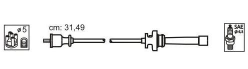 JP200 Комплект проводов зажигания MITSUBISHI: CARISMA 95-06, CARISMA седан 96-06, LANCER VI 95-, NIMBUS 98-, SPACE STAR 98-, SPA