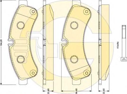 6117809 Колодки тормозные IVECO DAILY 06- передние