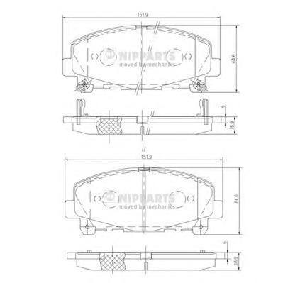 N3604069 Колодки тормозные HONDA ACCORD 2.0/2.4 АКПП 08- передние