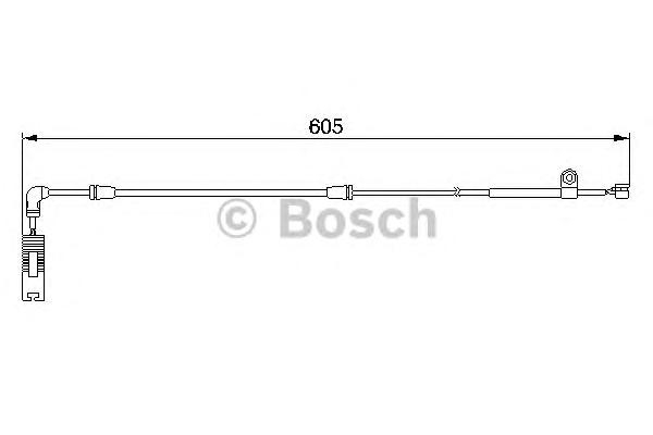 1987474943 Датчик износа торм.колодок BMW E46/E85 пер.