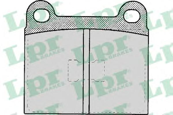 05p135 Комплект тормозных колодок, дисковый тормоз