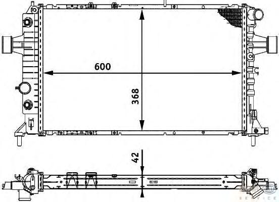 8MK376713011 Радиатор системы охлаждения OPEL: ASTRA G Наклонная задняя часть (F48_, F08_) 2.0 DTI 16V/2.2 DTI 98-05, ASTRA G ка
