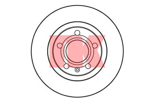204762 Диск тормозной передний / A4, VW Passat 97~ (280х22)