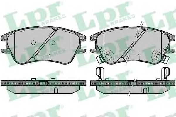 05P1212 Колодки тормозные HYUNDAI ATOS 01- передние