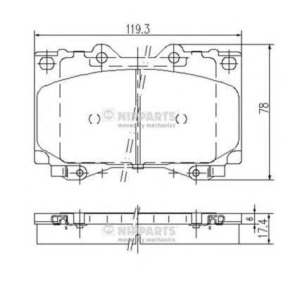 J3602097 Колодки тормозные TOYOTA LAND CRUISER 4.2D 9098/4.2D/4.7 98 передние