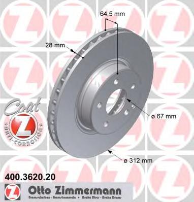 400362020 Тормозной диск
