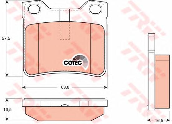 GDB1276 Колодки тормозные PEUGEOT 406 1.6-3.0 95-04/607 2.0-3.0 00- задние