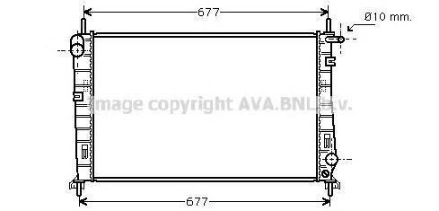 FDA2266 Радиатор FORD MONDEO 2.5/1.8TD 93-00