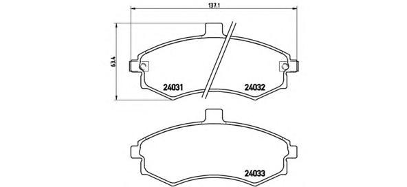 P30020 Колодки тормозные HYUNDAI ELANTRA/MATRIX 1.5-2.0 00- передние