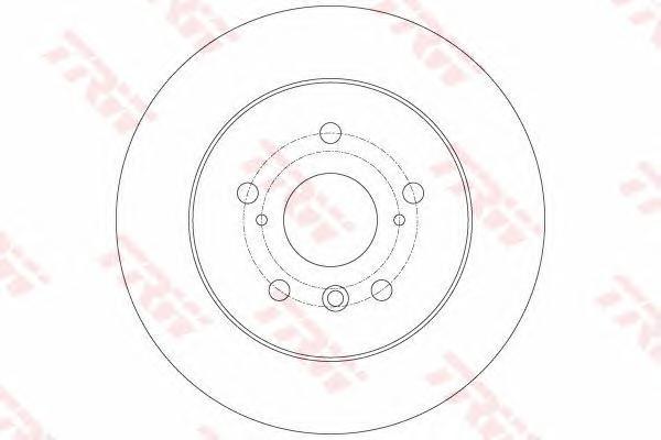 DF6176 Диск тормозной TOYOTA CAMRY V40 06-11 задний
