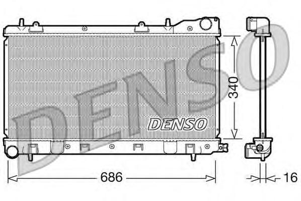 DRM36003 Радиатор системы охлаждения SUBARU: FORESTER 2.0 / 2.0 S TURBO