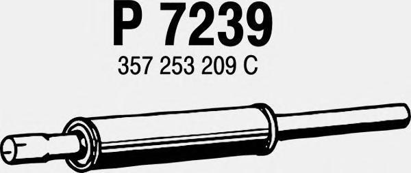 p7239 Средний глушитель выхлопных газов
