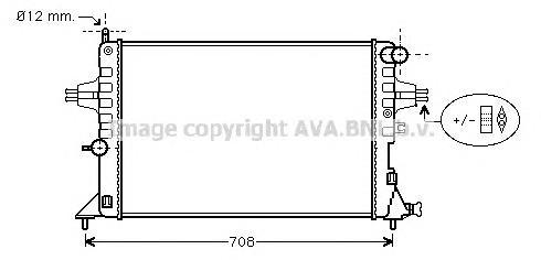 OLA2296 Радиатор OPEL ASTRA G 1.4-2.2 M/T 98-06