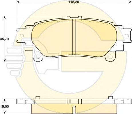 6141749 Колодки тормозные LEXUS RX 350/450h 09- задние
