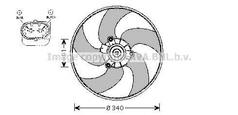 PE7522 Мотор вентилятора PEUGEOT 206