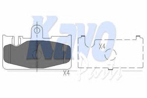 KBP9073 Колодки тормозные LEXUS LS 430 00-/RX 300 00-02 задние