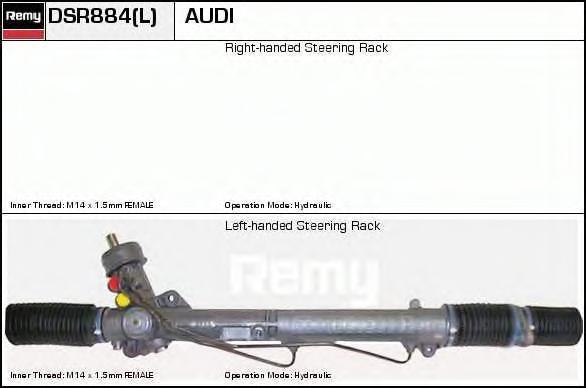DSR884L Рейка рулевая VAG A4/PASSAT 1.6-2.8 95-02 с ГУР