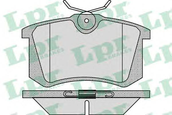 05P868 Колодки тормозные AUDI 95/VOLKSWAGEN 9205 задние