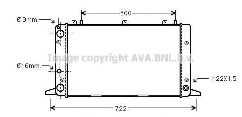 AIA2047 Радиатор AUDI A80 1.6-2.0 86-94