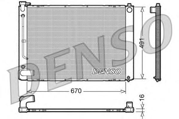 DRM50055 Радиатор LEXUS RX 330 3.3 03-07